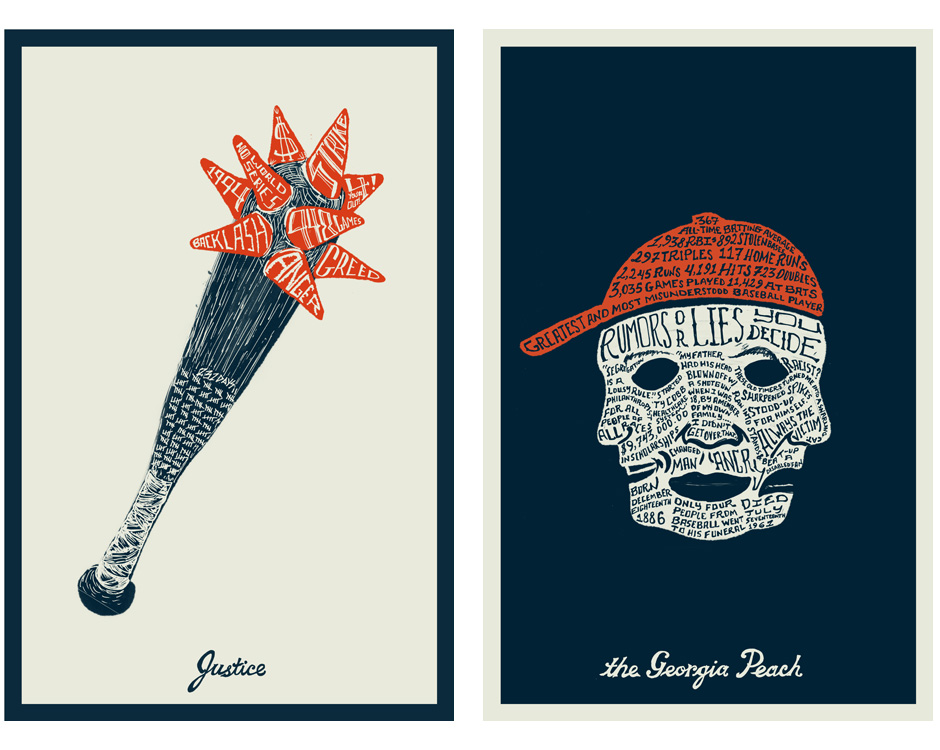 Bases Loaded Series posters by Brian Lindstrom