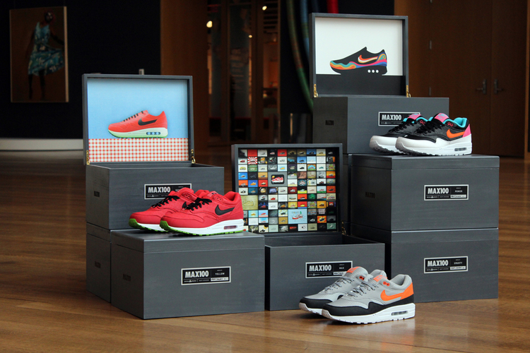 Nike Airmax 1 shoes with color schemes from the MAX100 Project