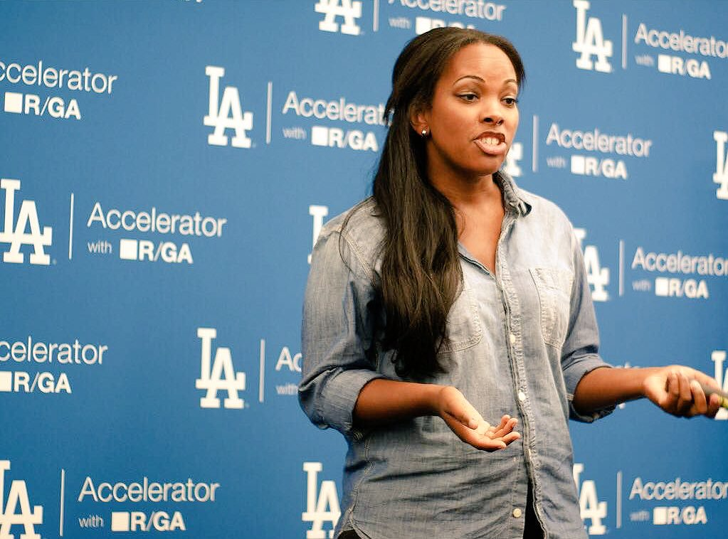 Dodgers Accelerator company practicing pitch