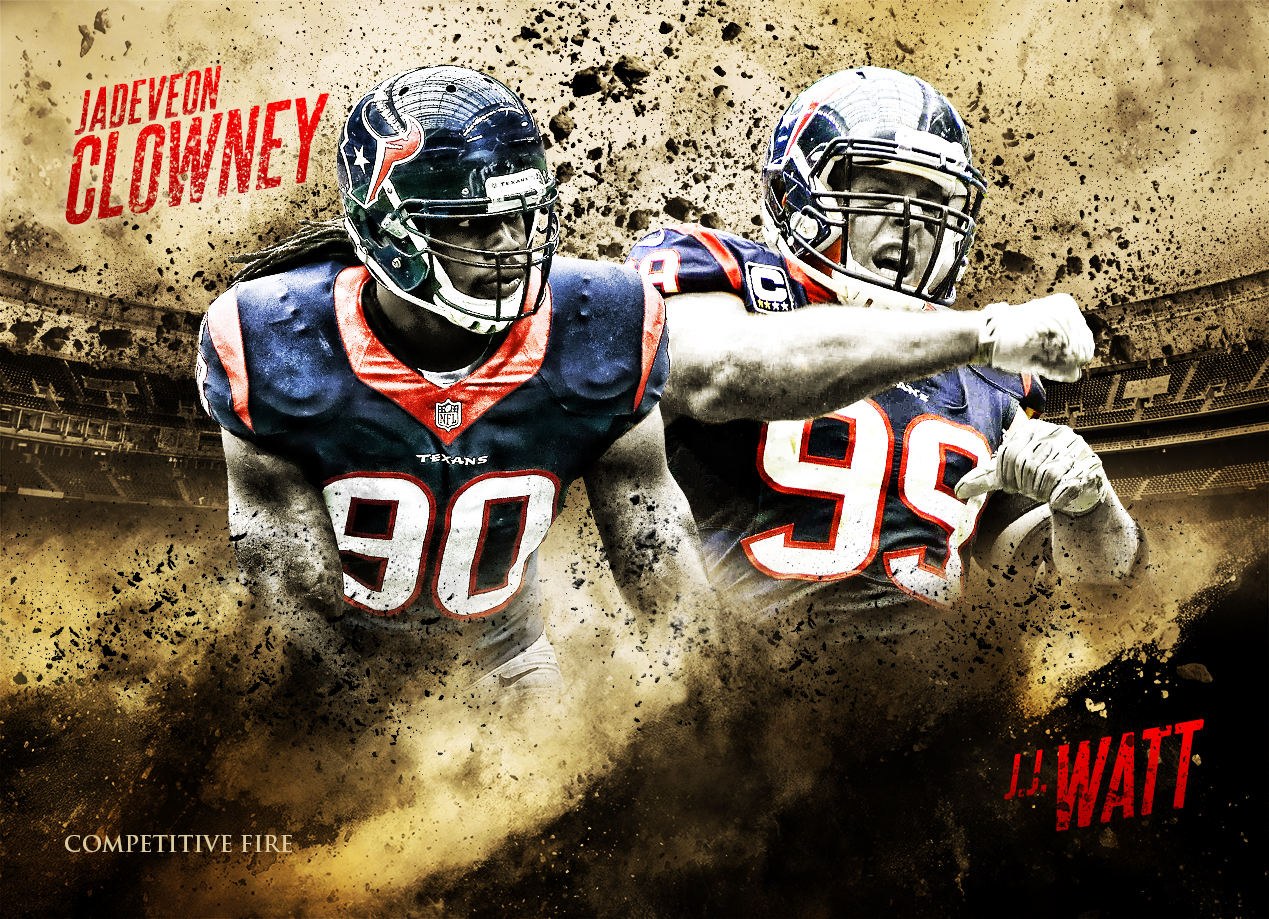 Jadeveon Clowney and JJ Watt 300 Inspired art by Tyson Beck