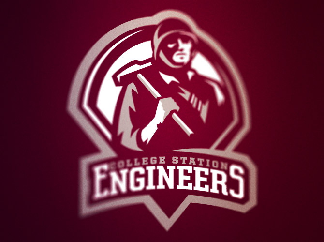 College Station Engineers logo by Fraser Davidson