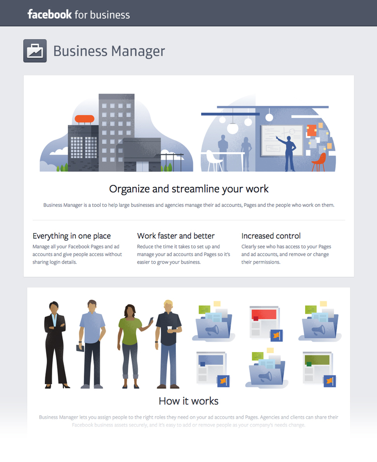 Facebook business illustrations by Matt Stevens