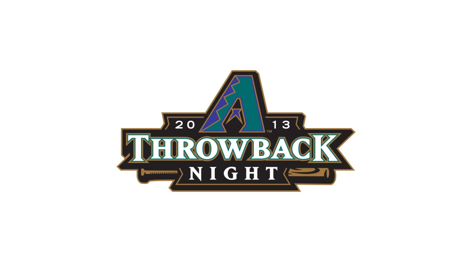 Arizona Diamondbacks 2013 Throwback night logo by Brian Gundell