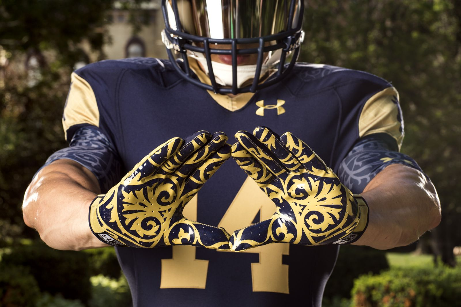 Notre Dame uniforms designed by Under Armour