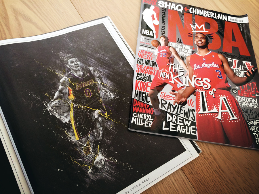 NBA Magazine Swaggy P Illustration