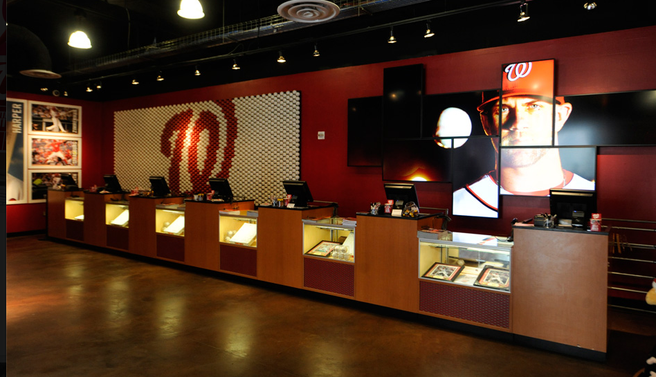 Washington nationals store experience and interior