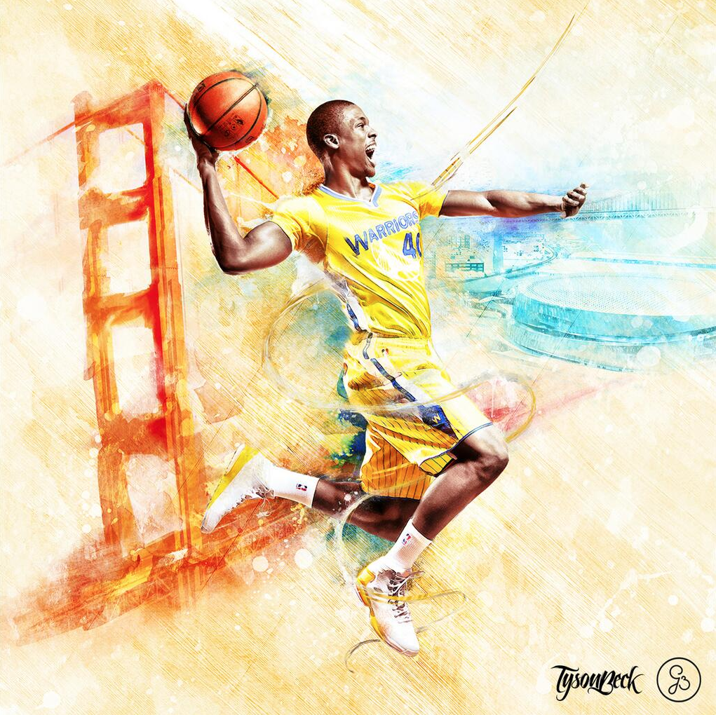 Harrison Barnes digital painting
