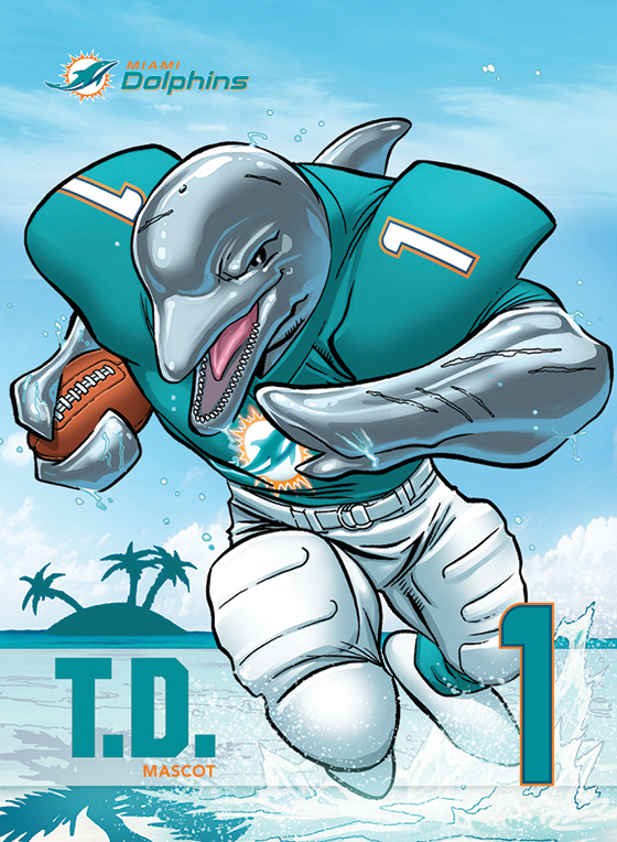 Miami Dolphins and Marvel collaboration