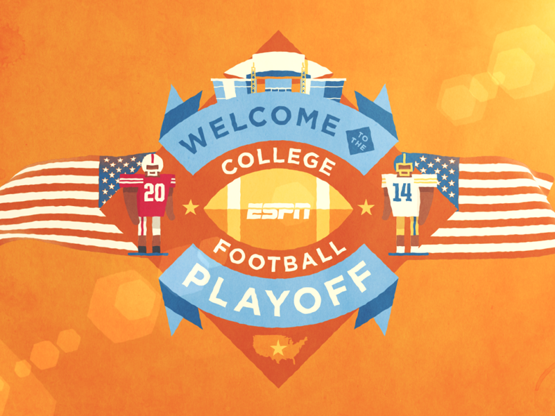 Welcome to the CFB Playoff still by Fraser Davidson