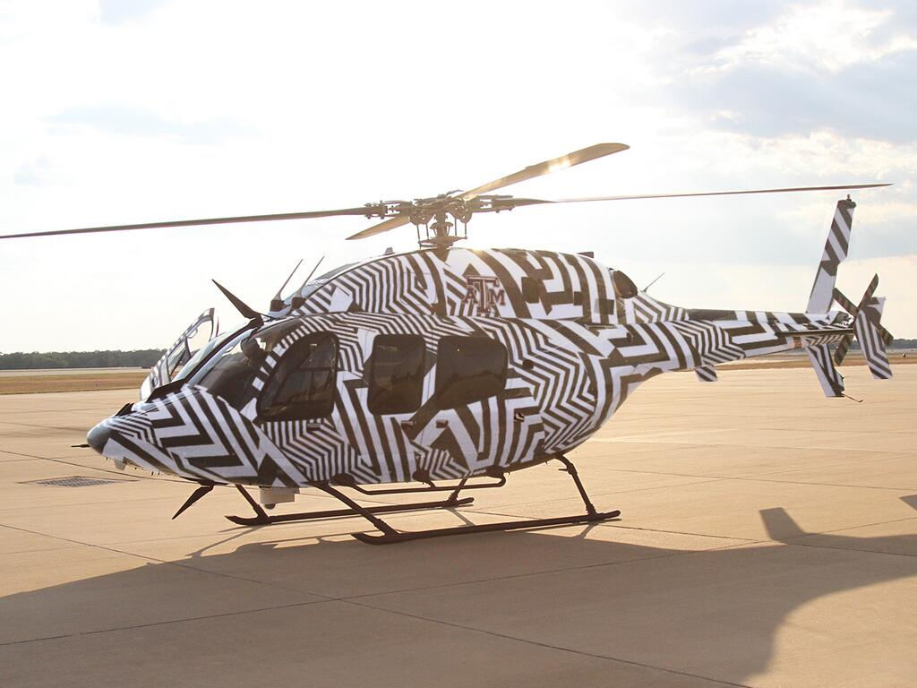 Texas A&M Zubas Helicopter