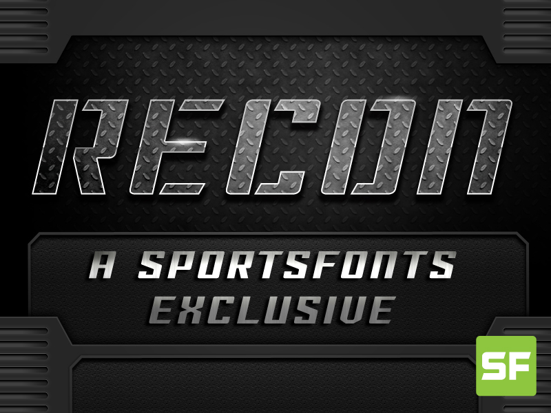 Recon - sports font