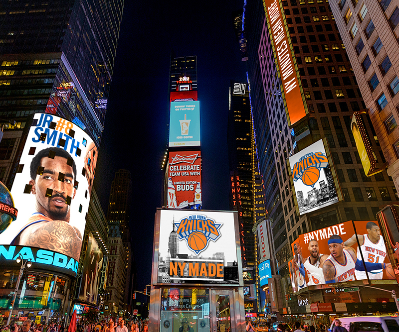 Times Square takeover by New York Knicks by Michelle Cruz