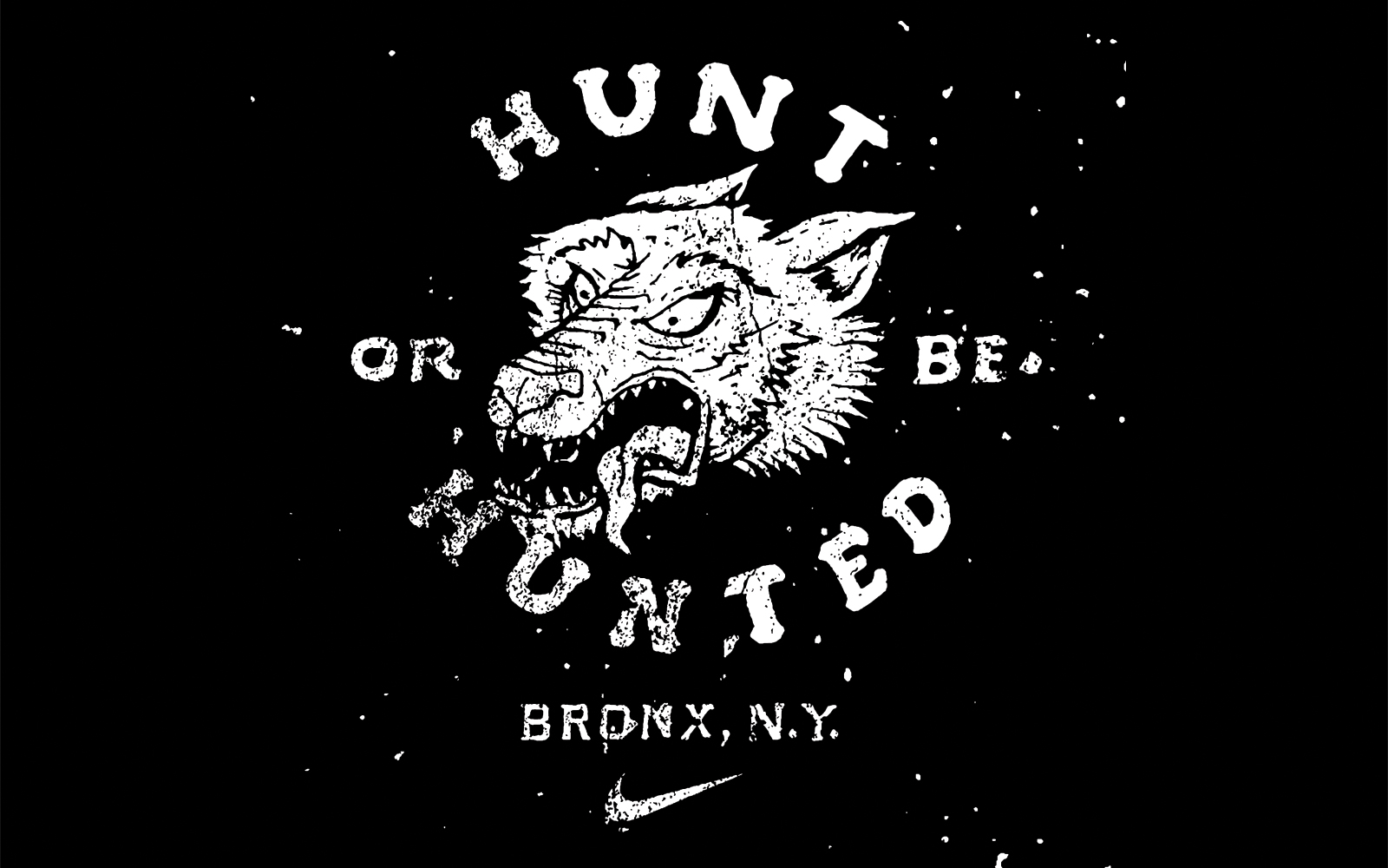 nike hunt or be hunted bronx illustration by jon contino